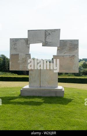 Untitled (Candida) von David Smith, Teil der Yorkshire Sculpture International 2019 in Yorkshire Sculpture Park - Stockfoto