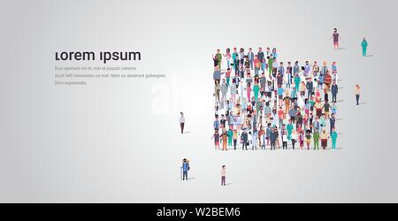 Große Leute Gruppe gemeinsam im Ordner Aktenkoffer Form masse von anderen Beruf Mitarbeiter Business Konzept voller Länge horizontale kopieren - Stockfoto
