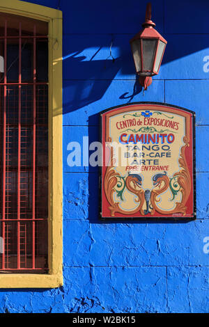 Argentinien, Buenos Aires, La Boca Bezirk, Tango Tänzer - Stockfoto