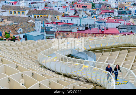 Spanien, Andalusien, Provinz Sevilla, Sevilla, Plaza de la Encarnacion, Metropol Parasol von Architekt Jürgen Mayer-Hermann - Stockfoto