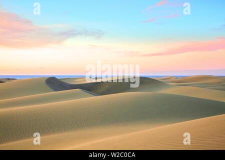 Dünen von Maspalomas, Gran Canaria, Kanarische Inseln, Spanien, Atlantik, Europa - Stockfoto