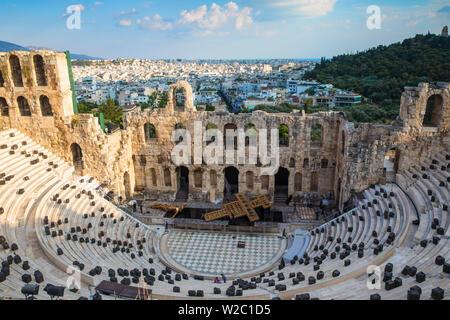"""Griechenland, Attika, Athen, die Akropolis, das Odeon des Herodes Atticus - als """"Herodeon"""" bekannt - Stockfoto"""
