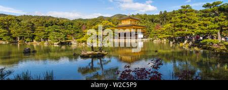 Japan, Kyoto, Kinkaku-ji, - Der Goldene Pavillon offiziell genannten Rokuon-ji - Stockfoto