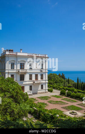 Ukraine, Krim, Liwadia-palast, Ort der Konferenz von Jalta im Jahre 1945 fanden Gespräche mit Stalin aus der UDSSR, Roosevelt und Churchill aus den USA, aus Großbritannien - Stockfoto