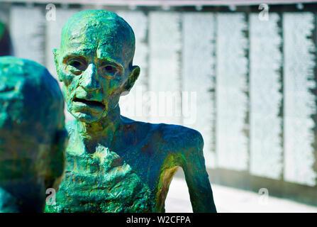 Florida, Miami Beach, Holocaust Mahnmal, eine Skulptur von Liebe und Angst, die letzten Abschied - Stockfoto