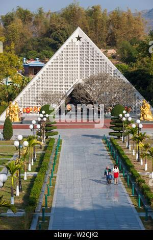 Vietnam, Dien Bien Phu, Dien Bien Phu Militärfriedhof, Denkmal - Stockfoto