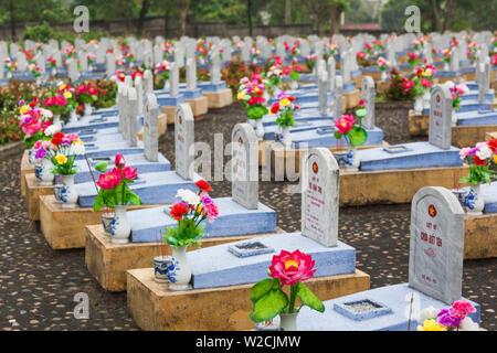 Vietnam, DMZ-Bereich, Provinz Quang Tri, Cam Lo Nordvietnamesen Soldatenfriedhof - Stockfoto