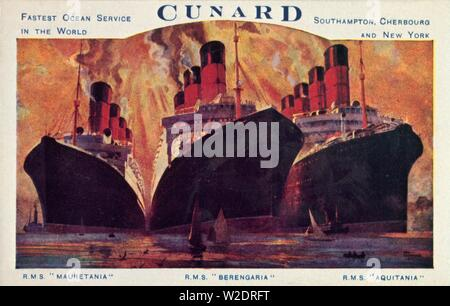 Der cunard Ocean Liner, 1920er Jahre. Schöpfer: Unbekannt. - Stockfoto