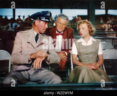 STRATEGIC AIR COMMAND 1955 Paramount Pictures Film mit Von links: James Stewart, Jay C. Flippen, Juni Allyson - Stockfoto