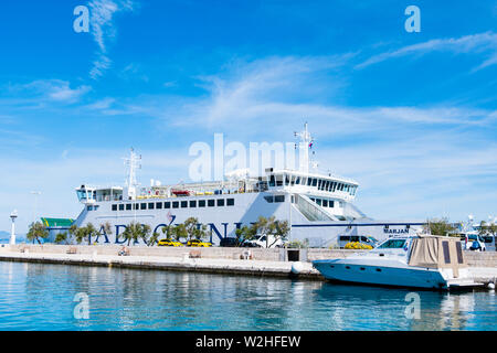Port, Supetar, Brac, Dalmatien, Kroatien - Stockfoto