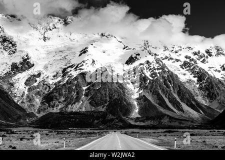Mount Cook Mountain Range, Südinsel, Neuseeland - Stockfoto