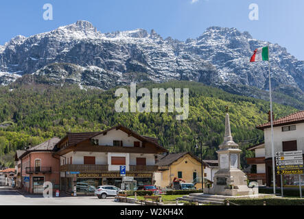 Cencenighe Agordino, Dolomiten, Italien Stockfoto