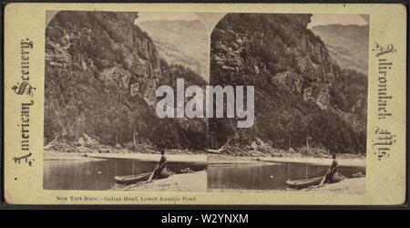 New York State Indian Head, untere Ausable (Au Sable) Teich, von Robert N Dennis Sammlung von stereoskopische Ansichten - Stockfoto