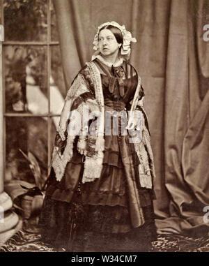 Königin Victoria (1819-1901) britische Monarch 1860 - Stockfoto