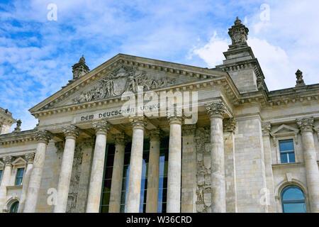 Reichstag, Regierungsviertel, Berlin, Deutschland, Europa - Stockfoto