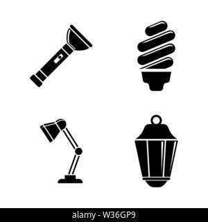 Lichtquelle. Einfache ergänzende Vector Icons Set für Video, Mobile Anwendungen, Websites, Print Projekte und ihre Gestaltung. Schwarz auf Weiß Zurück - Stockfoto