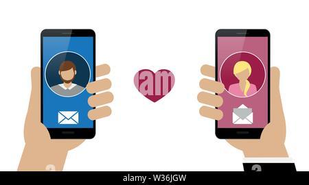 Online-dating-chat zwischen mann und frau
