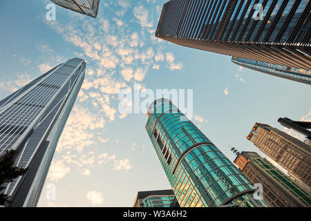 Wolkenkratzer in Futian Central Business District. Shenzhen, Guangdong Province, China. - Stockfoto