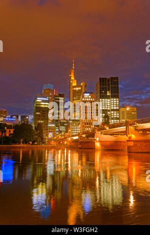 Bankenviertel von Frankfurt, Deutschland. - Stockfoto