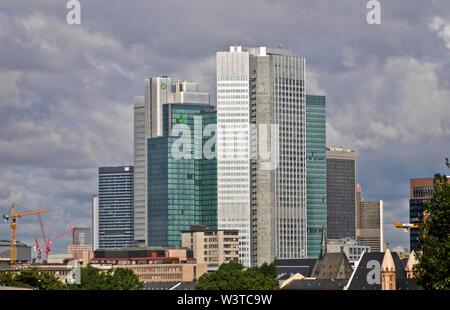Frankfurter Skyline: Financial District, Deutschland - Stockfoto