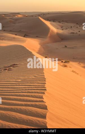 Die Wahiba Wüste im Oman - Stockfoto