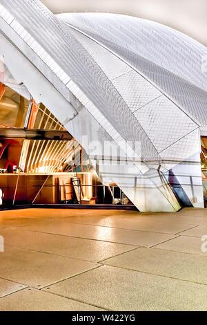 Sydney Opera House außerhalb Fußboden und weißen Dach aus einem Muster mit der Beleuchtung - Stockfoto