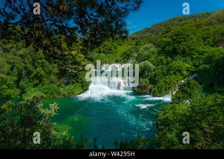 Wasserfälle im Nationalpark Krka, Dalmatien, Kroatien - Stockfoto