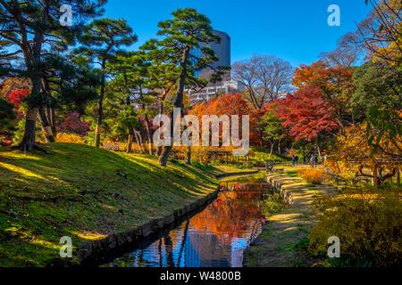 Koishikawa-Korakuen ist ein siebzehnten Jahrhundert Japanses Garten in Koishikawa, Bunkyo, Tokio, Region Kanto, Insel Honshu, Japan - Stockfoto