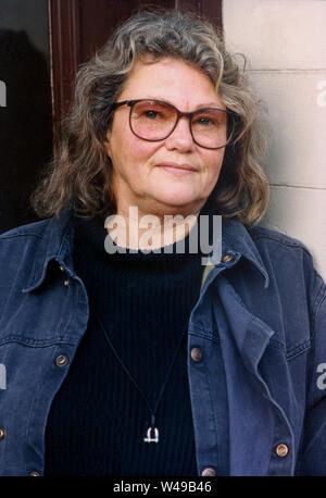 Maj Sjöwall schwedische Autorin und Übersetzerin, bekannt für seine Romane über Martin Beck die Polizei Detektiv zusammen mit ihrem Partner Per Wahlöö - Stockfoto