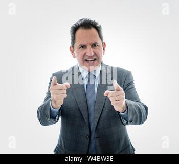 Geschäftsmann Executive Manager oder Trainer, die eine Präsentation auf der Kopie Raum und Diskutieren von Ideen in eine Konferenz, Schulungen oder Marketing meeti - Stockfoto