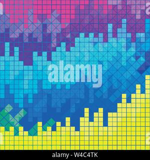 Pixel farbige psychedelisch geometrische Hintergrund - Stockfoto