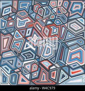 Farbige Polygone schönes helles geometrischen Hintergrund Vector Illustration - Stockfoto