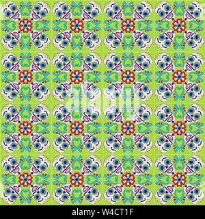 Tag der Toten mexikanischen Talavera Keramik Muster. - Stockfoto