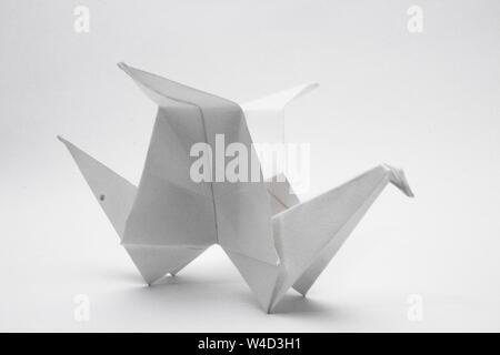 Papier origami Vogel - Stockfoto