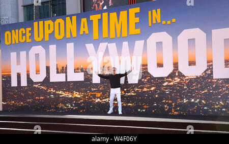 "Los Angeles, USA. 22. Juli, 2019. Don Johnson bei der Premiere von ""Once Upon A Time In Hollywood' an der TCL Chinese Theater. Foto: Paul Smith/Alamy leben Nachrichten - Stockfoto"