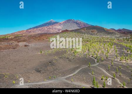 Pico del Teide - spektakuläre Vulkan auf Teneriffa, mit seiner Umgebung - Stockfoto