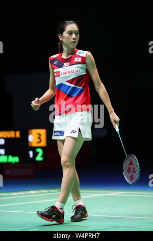 Tokio, Japan. 24. Juli, 2019. Aya Ohori (JPN) Badminton: Daihatsu Yonex Japan Open 2019 Damen Einzel an der Musashino Wald Sport Plaza in Tokio, Japan. Credit: Sho Tamura/LBA SPORT/Alamy leben Nachrichten - Stockfoto
