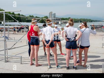 Plovdiv, Bulgarien, 10.-12. Mai 2019, FISA, Rudern Wm 1, Plovdiv Kanu und Rudern, © Peter SPURRIER/Intersport Bilder] - Stockfoto