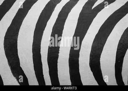 Kunst Hintergrund Mischung aus schwarzen und weißen Streifen. - Stockfoto