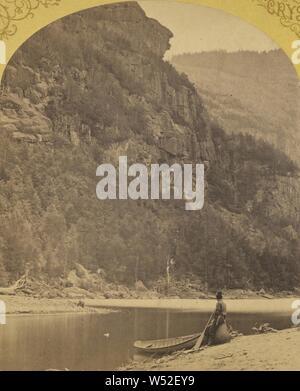 Indian Head, untere Ausable Teich, Adirondacks., S.R. Stoddard (American, 1843 oder 1844 - 1917), um 1875, Eiweiß silber Drucken - Stockfoto