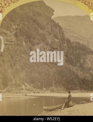 Indian Head, untere Ausable Teich, Adirondacks, S.R. Stoddard (American, 1843 oder 1844 - 1917), um 1875, Eiweiß silber Drucken - Stockfoto