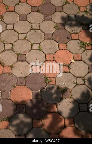 Tha Pflaster ein Schatten an einem sonnigen Tag - Stockfoto