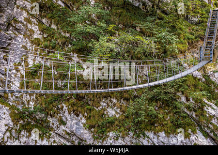 Italien Friaul Barcis Alte Straße von Val Cellina - Himalaya Brücke - Naturpark des Dolomiti Friulane