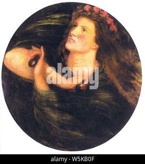 Dante Gabriel Rossetti - La Castagnetta. - Stockfoto