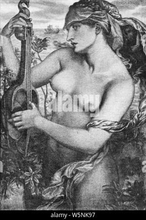 Dante Gabriel Rossetti - Sirene Ligeia. - Stockfoto