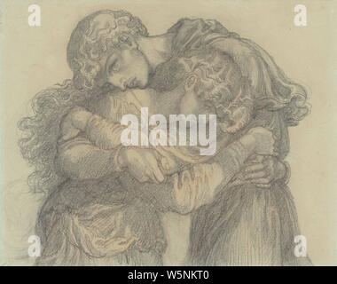 Dante Gabriel Rossetti - Die selige Damozel (Studie für Liebhaber). - Stockfoto