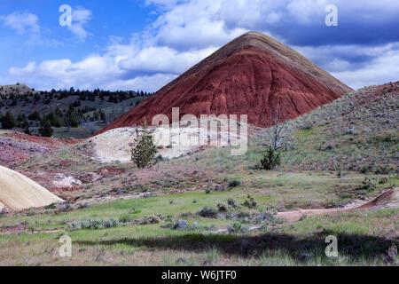 Des Oregon Painted Hills ist eine der drei Einheiten der John Day Fossil Beds National Monument, im Wheeler County, Oregon. Es Gesamt 3,132 acr - Stockfoto