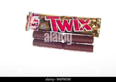 Twix Schokoriegel - Stockfoto
