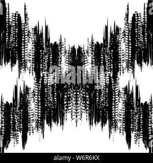 Abstrakte weißen Hintergrund mit Grunge schwarze Linien und Spuren - Stockfoto