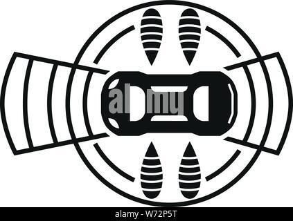 Ansicht von oben Smart AUTO-Symbol. Einfache Abbildung: Ansicht von oben Smart Auto vektor Symbol für Web Design auf weißem Hintergrund - Stockfoto